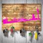 Magnetbrett – Düsseldorf geholzig pink