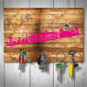 Magnetbrett – Mönchengladbach geholzig pink